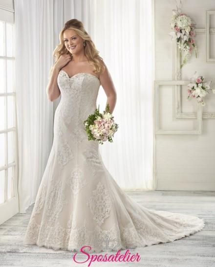 Pepita- abiti da sposa 2017 taglie comode STILE SIRENA