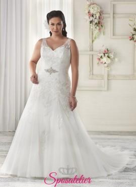 armandha- abiti da sposa 2017 taglie comode scollo V