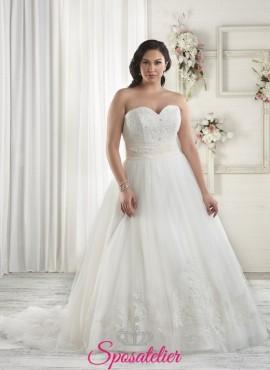 181f220984c4 ylaria- abiti da sposa 2017 taglie comode scollo a cuore