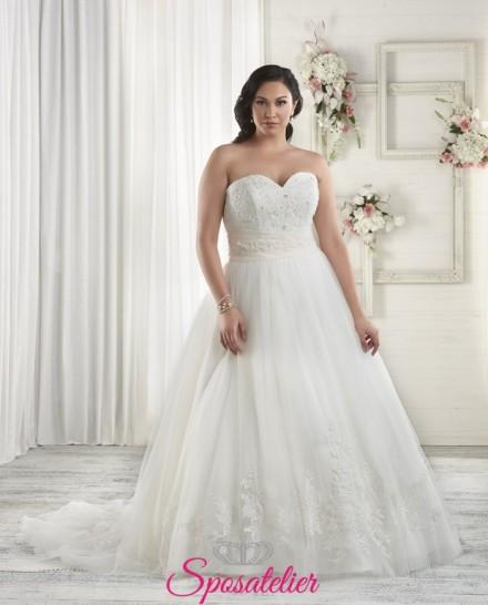 ylaria- abiti da sposa 2017 taglie comode scollo a cuore