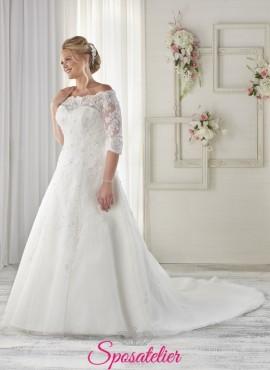 ebac6350a62a Verdazza- abiti da sposa 2017 taglie comode scollo a barca