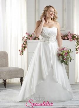 Lecco –  vestito da sposa realizzato in Italia per taglie forti economico