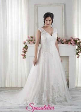 mantova-vestito da sposa realizzato in Italia per taglie forti economico online
