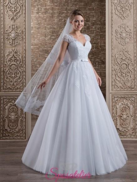 129-abito da sposa economico ampio con gonna a campana
