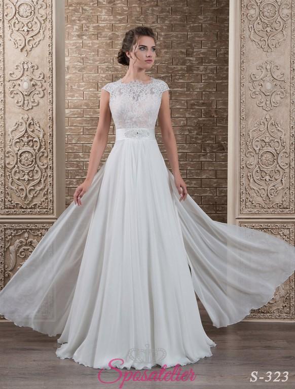 abbastanza 134-abito da sposa economico elegante e raffinatoSposatelier QC05