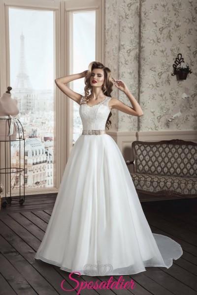 72-abiti da sposa 2017 economici su misura  con strascico