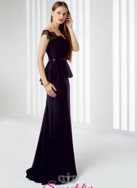 abiti da cerimonia elegante nero invernale   2017 economici online