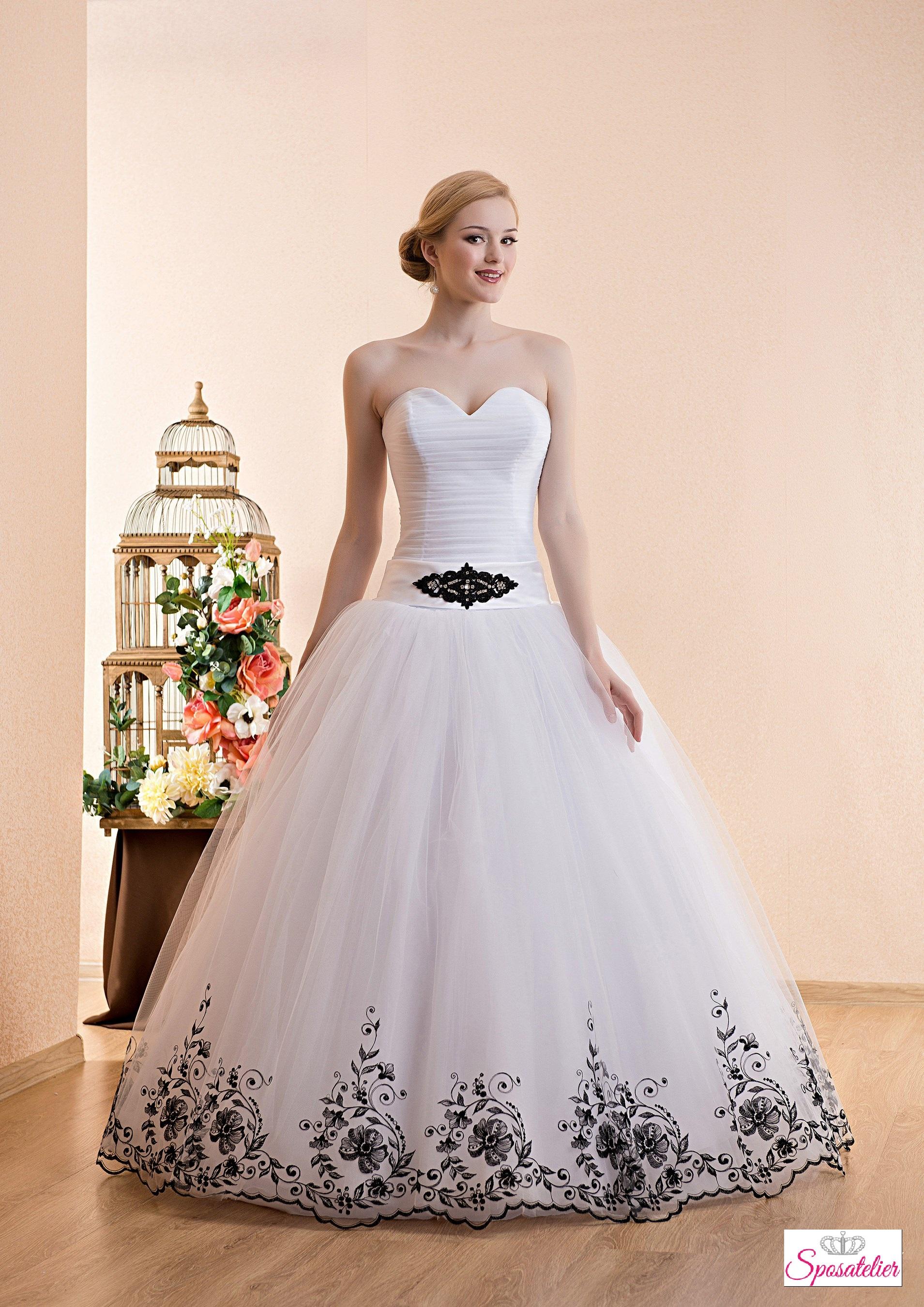 35d1bfc40252 abiti da sposa bianchi e neri economici online coloratiSposatelier