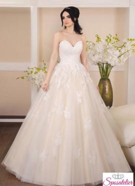 6e2823c79a36 abito da sposa colorato rosa e avorio economico online
