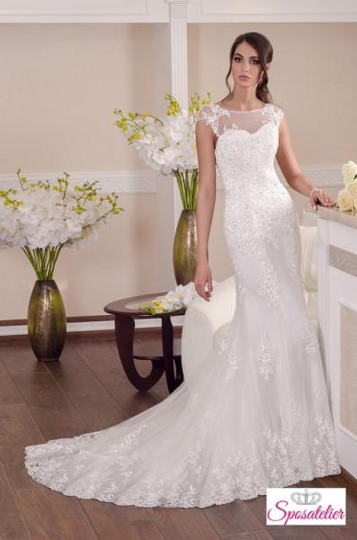 vestito da sposa a sirena economico in pizzo vendita on line