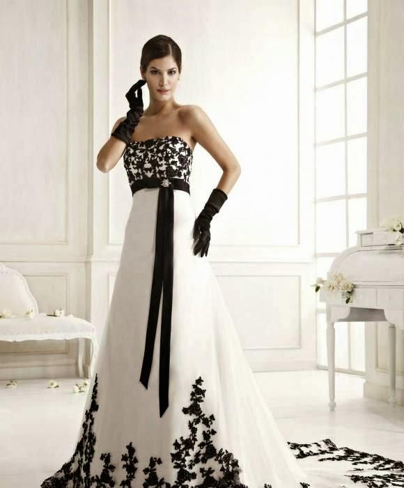 Molto abiti da sposa bianchi e neri colorati rossi e neri bianchi e  VS38