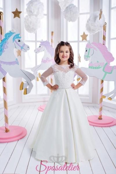 vestito da cerimonia per bambina damina 2017