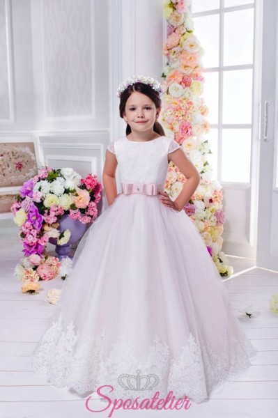 ANNALUCE – vestito prima comunione rosa damigella