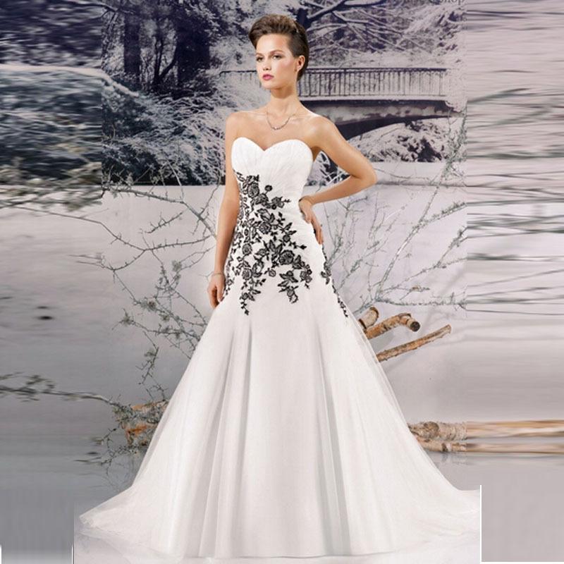 Famoso abiti da sposa bianchi e neri colorati rossi e neri bianchi e  GA85