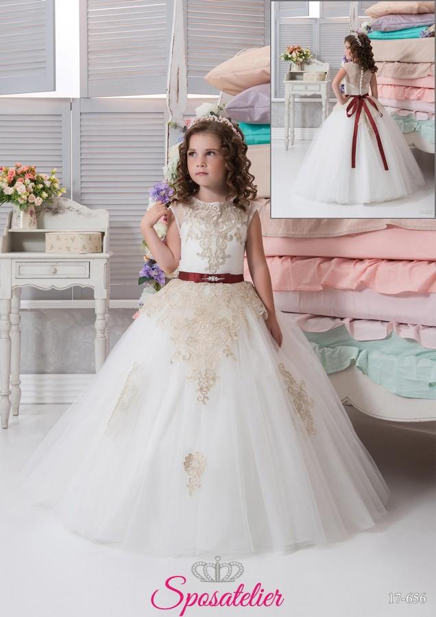 wholesale dealer f1f09 3d1f1 abiti damigella bambina economici matrimonio 2017