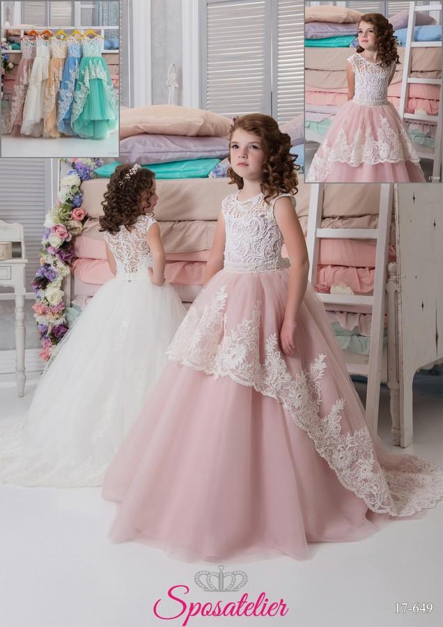 c9a15fe45d4f vestito prima comunione bimba principessa economico onlineSposatelier