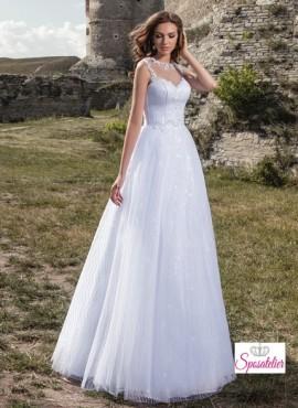 6daac180ab79 abiti da sposa principeschi con lungo strascico rimovibile economici