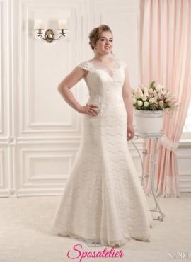 vestiti da sposa taglie extra large online ricamati 2017