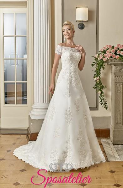 5758572cf80f abiti da sposa scollo omerale scontati vendita su internetSposatelier