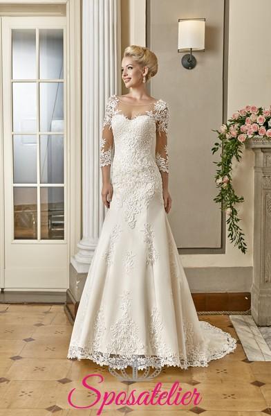 39e7e227c2df abiti da sposa con maniche effetto tattoo vendita su internetSposatelier