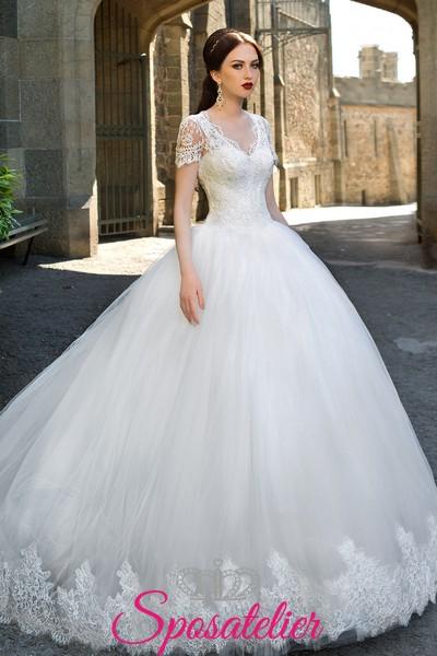 vestiti da sposa scontati ampio e principesco Italia collezione 2017