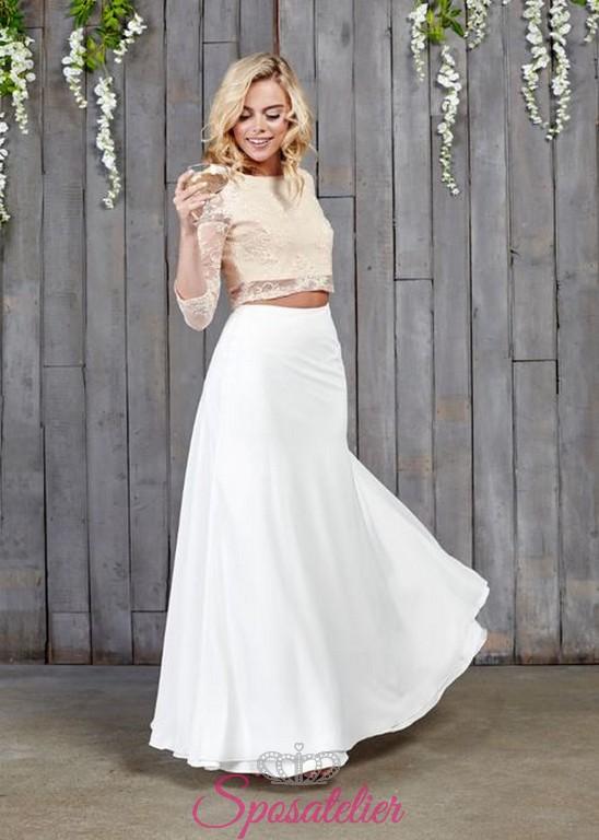 Extrêmement abiti da sposa per matrimonio civile crop top spose moderne  GQ74