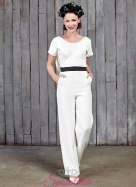 abiti da sposa moderni con pantaloni  2017 economici online