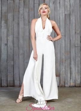 Tuta da sposa originale con pantalone per  matrimonio civile 2017