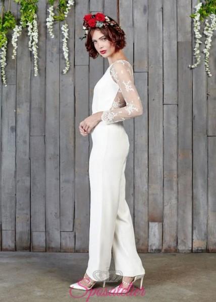 abiti da sposa originali con pantalone 2017 economici online
