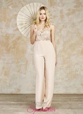 abiti da sposa con pantaloni colorati a palazzo 2017 economici online