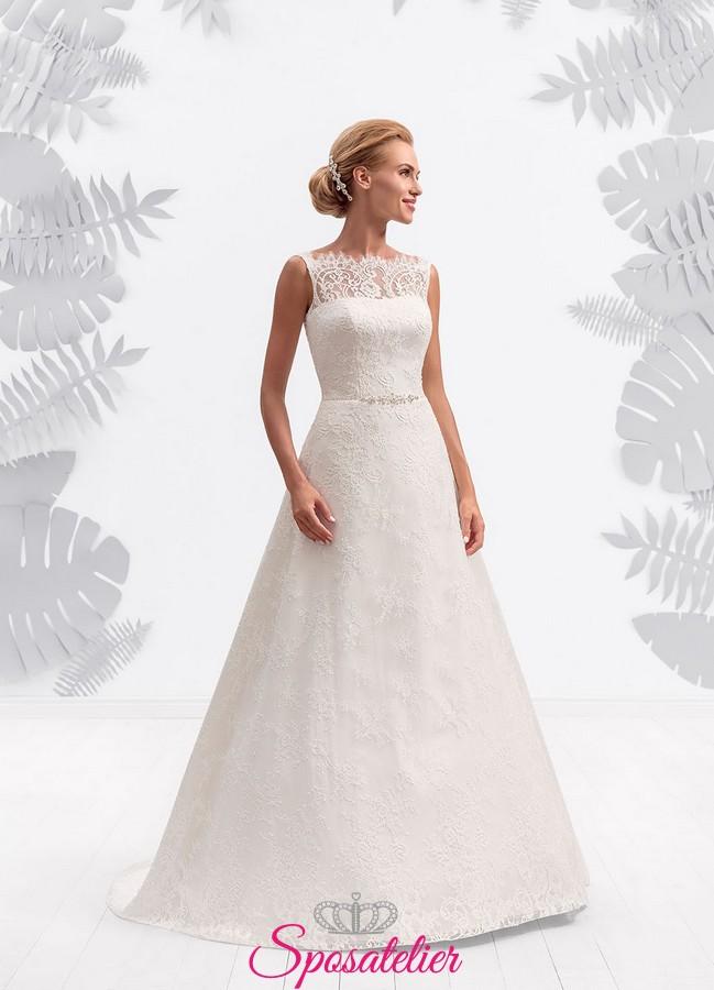 bd07ec91e2ad vestiti da sposa semplice elegante e raffinato economico on line italiani