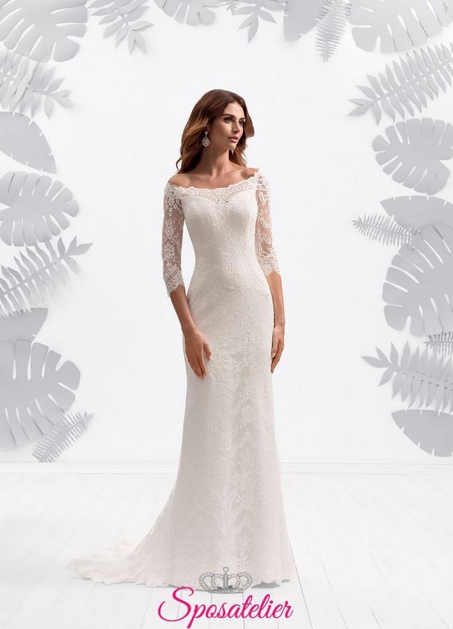 d0bcf02674cf Abiti da sposa online Italia scontati con maniche lunghe sensuale