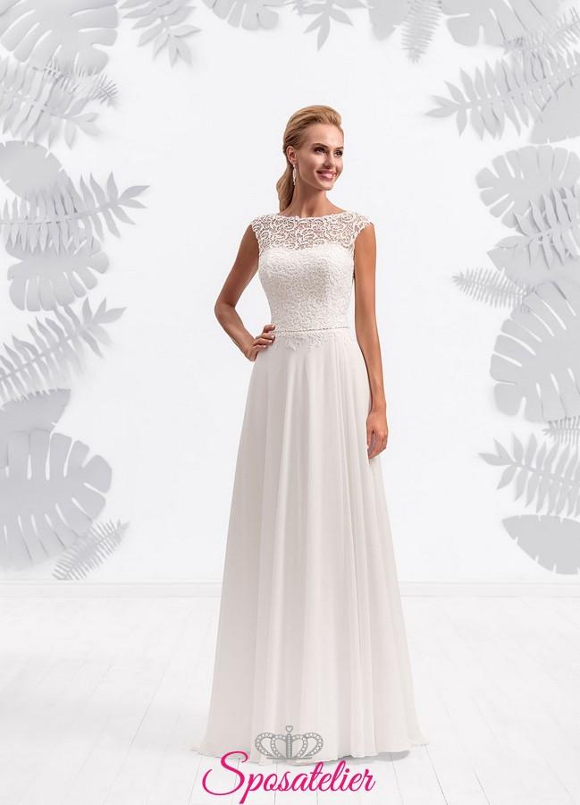 7b9a8180c3f3 abito da sposa semplice e lineare elegante nuova collezione economici 2017