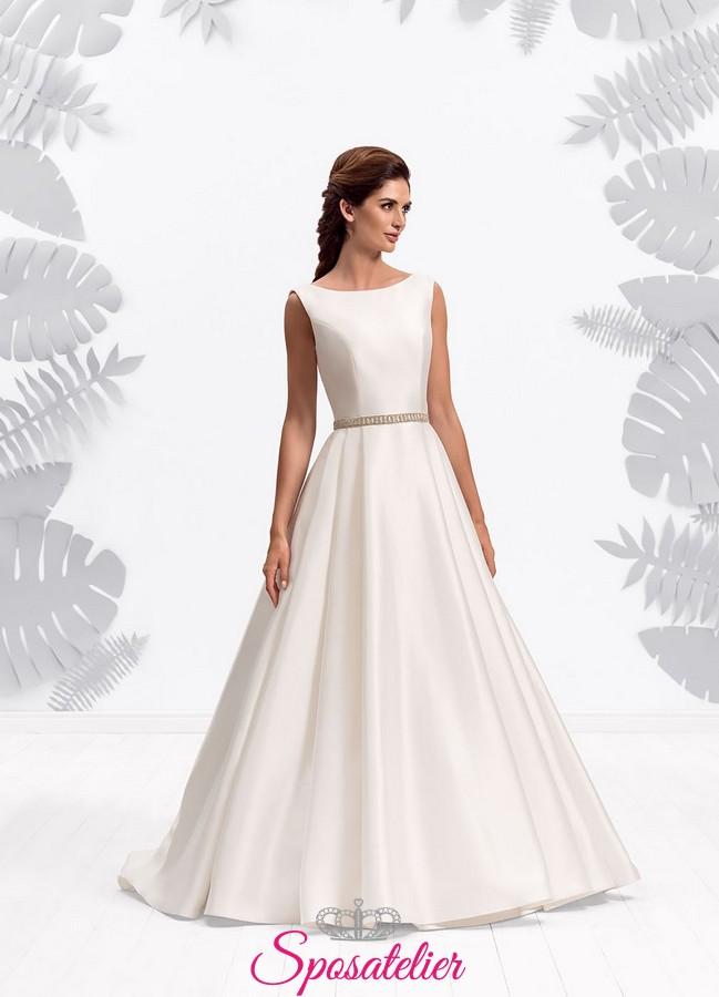 af7c3f578c54 VESTITI da sposa economici vendita su internet linea A per matrimonio  elegante