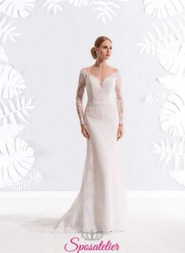 vestiti da sposa economici online stile sirena con schiena scoperta 6f002df4070