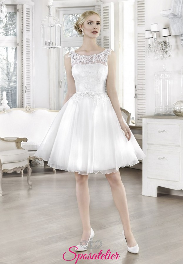 Vestito Da Sposa Corto Anni 60.Abiti Da Sposa Corti Anni 50 2017 Acquisto Online Economici