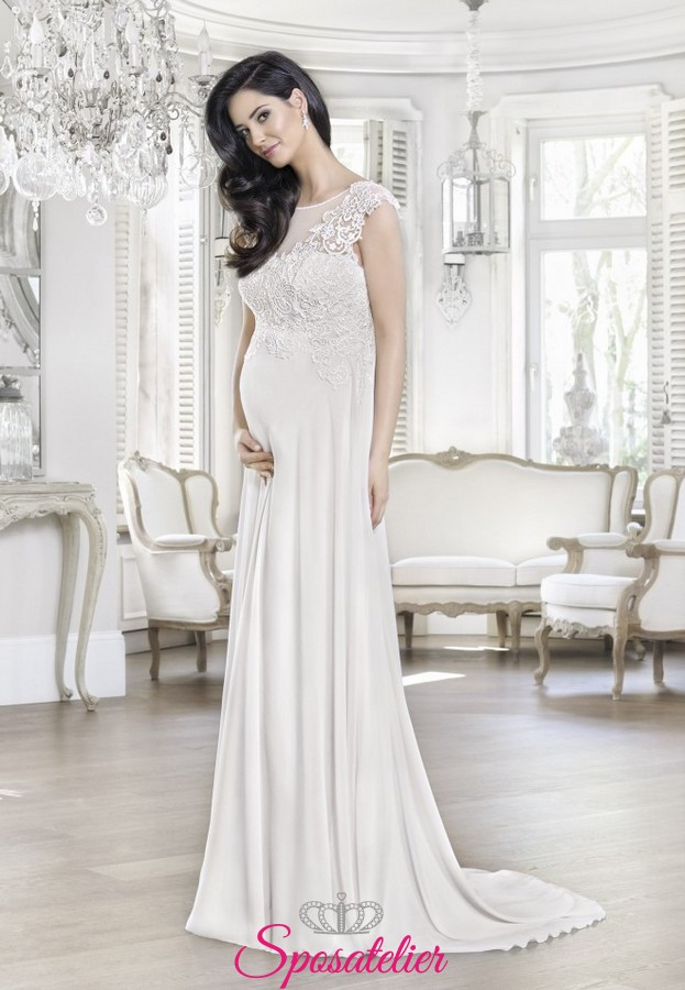 ff5d297337bb abiti da sposa premaman economici online 2017 donne in dolce attesa