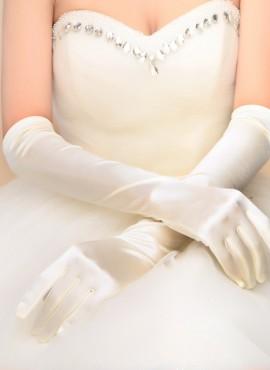 guanti sposa lunghi color avorio online economici
