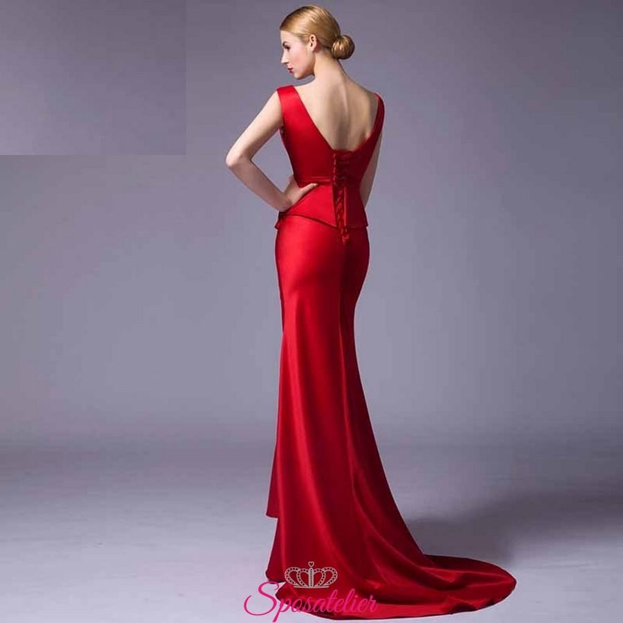 e63b14d93c26 vestiti da damigella economici rossi 2017 online ItaliaSposatelier