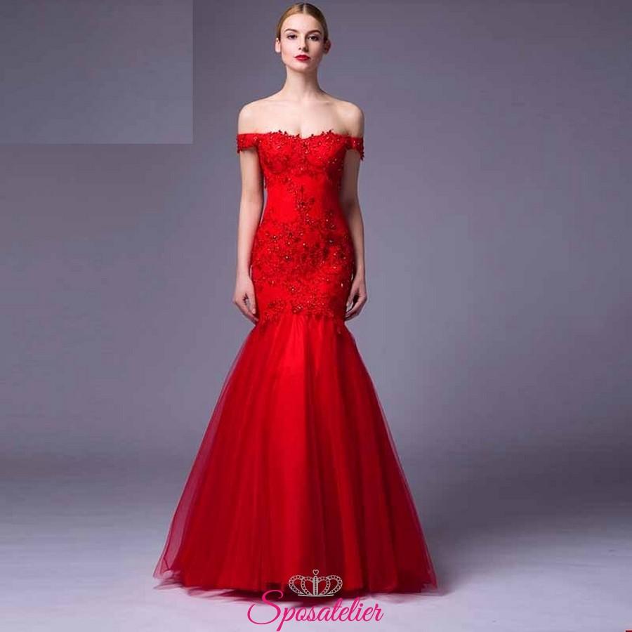 7559d3c50c3b vestiti da cerimonia economici rossi 2017 online damigella d u0027onore ...