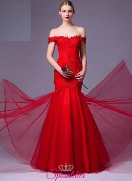vestiti da cerimonia economici rossi 2017 online damigella d'onore