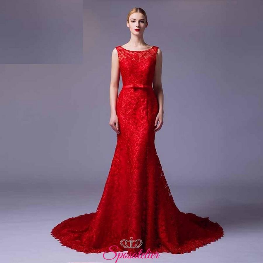 vestiti da damigella lunghi economici rossi 2017 online Italia bba7688c963