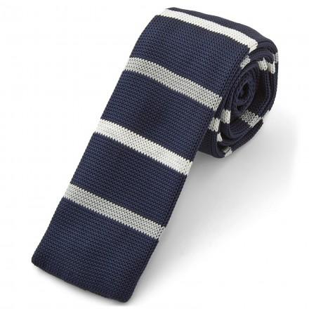 cravatta a righe tessuto maglia