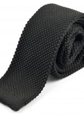 Cravatta nera lavorata a maglia