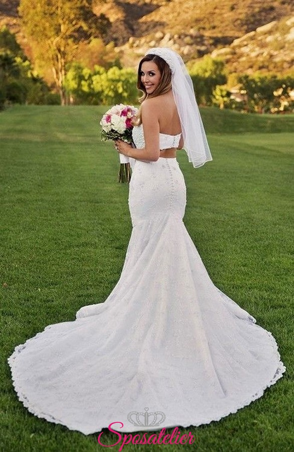 Matrimonio Sulla Spiaggia Economico : Abiti da sposa crop top economici online per matrimonio in