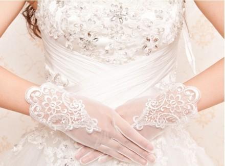 guanti sposa online economici ricamati in pizzo