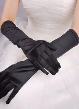 guanti da sposa lunghi in raso neri online economici