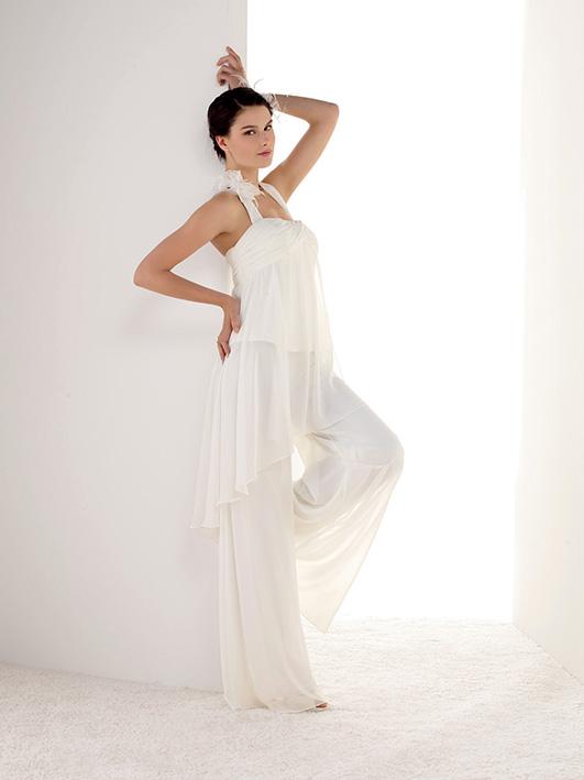san francisco f0554 e84ac abiti da sposa con pantalone largo spose moderne 2017 economici online