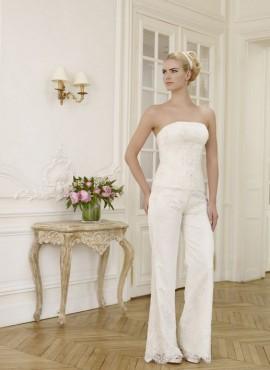 abiti da sposa con pantalone a palazzo ricamato 2017 economici online