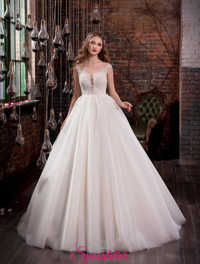 Conosciuto abiti da sposa con gonna ampia da principessa 2017 e schiena  TU98